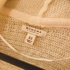 Sonoma Sweaters - White knit cardigan sweater